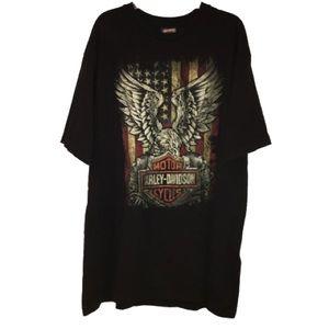 Harley Davidson American Flag Eagle T-Shirt XXL